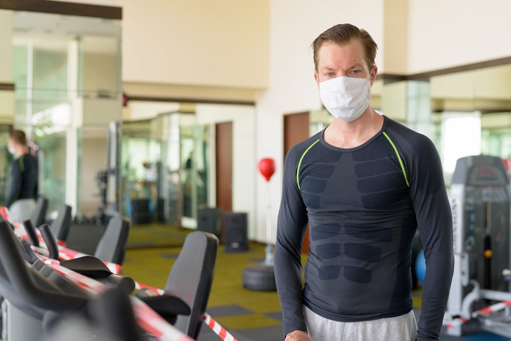 Stressed Young Man With Mask Looking At Exercise E 6t3kfsa